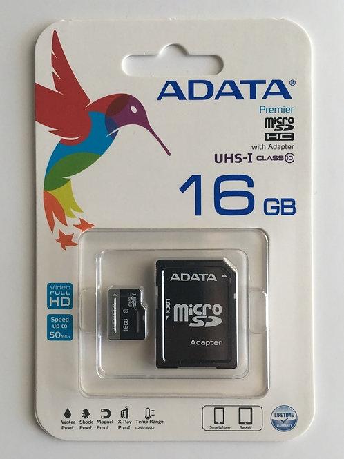 Memoria Adata Micro SD 16GB clase 10 50MB/s