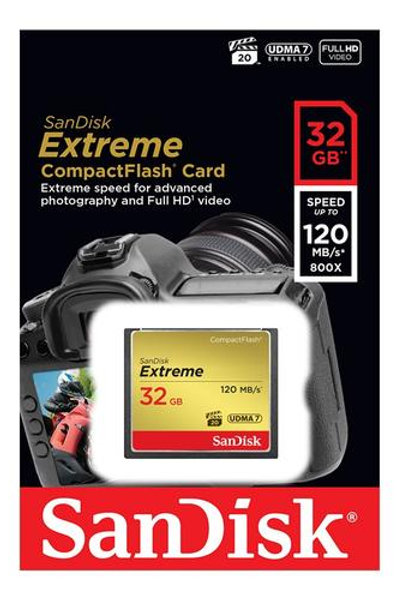 Memoria compact flash Sandisk Extreme 32GB 120MB/s