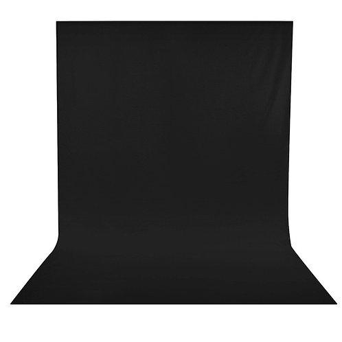 Fondo de tela negro Neewer para foto y video 3.0x3.60 mts.