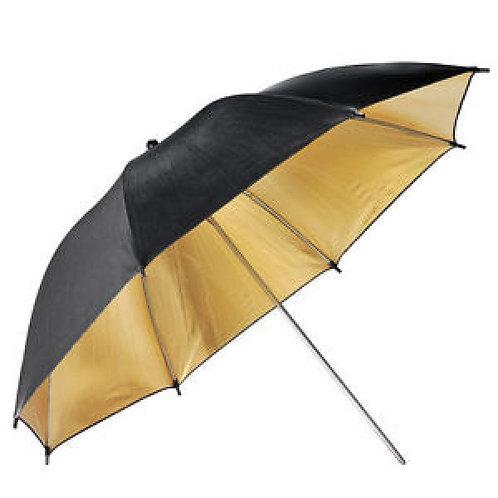 Sombrilla dorada negro 83cm