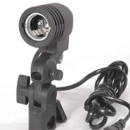 Socket sencillo E27 para tripie de iluminación