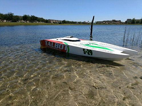 AR54 Torpedo Cat with twin gas outboards RTR