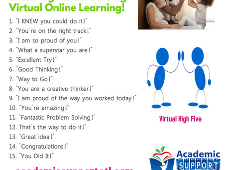 15 Things to Say to Encourage Your Child Doing Virtual Online Learning