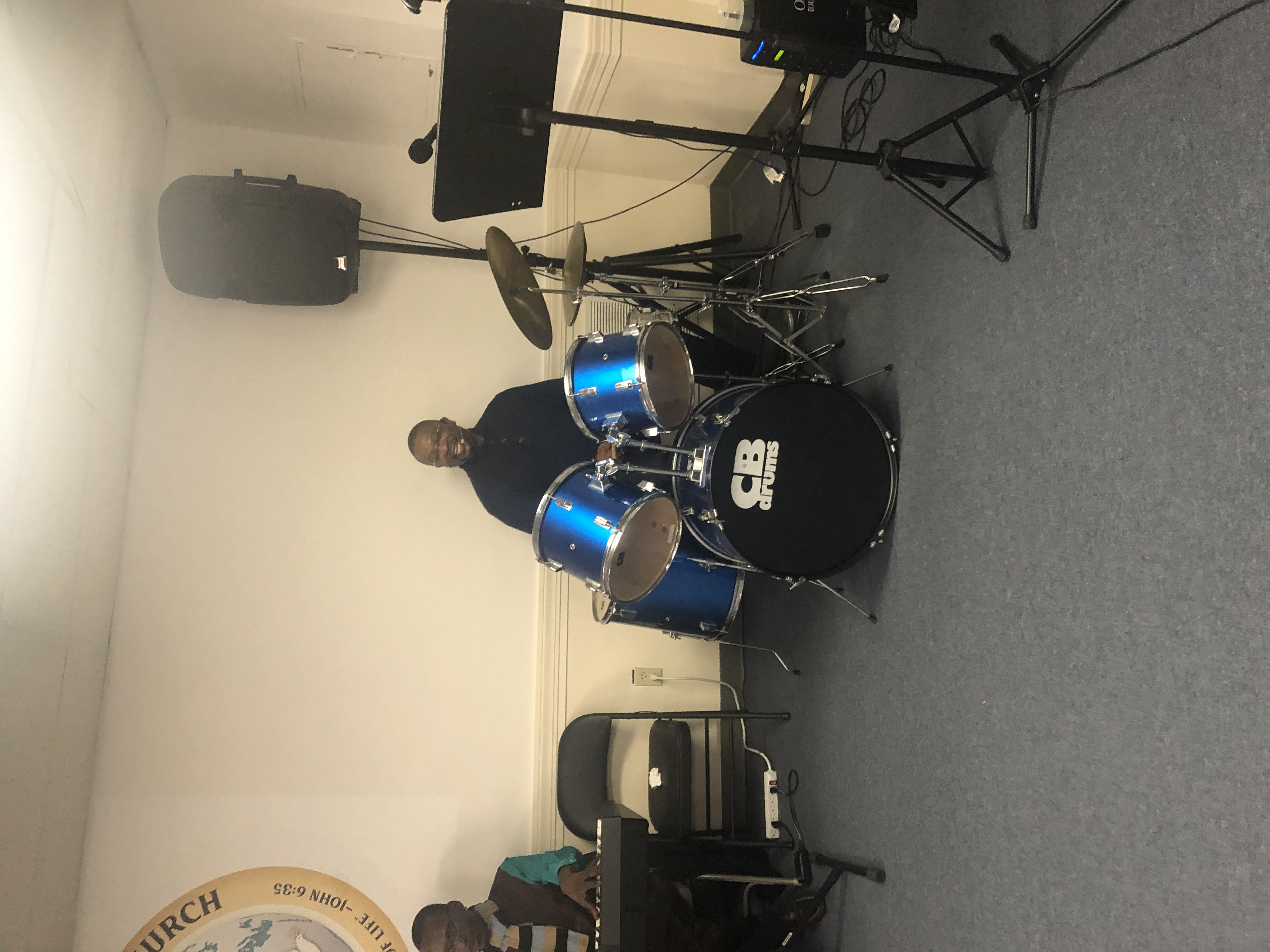 Pastor on Drums