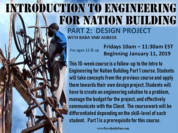 INTRO TO ENGINEERING FOR NATIONBUILDING