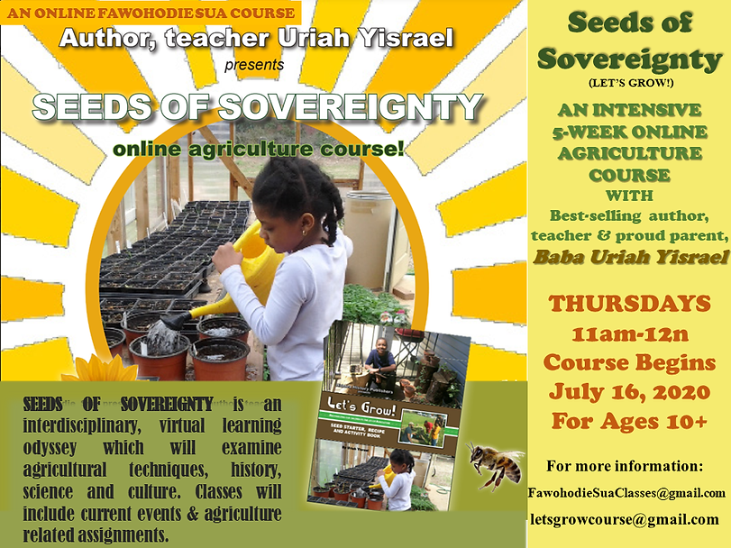 SEEDS OF SOVEREIGNTY LETS GROW SUMMER 20