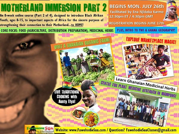 MOTHERLAND IMMERSION PT 2 JULY 2021 FLYE