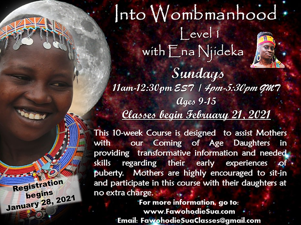 INTO WOMBMANHOOD LV 1 FEBRUARY 2021 FLYE