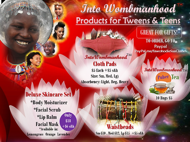 INTO WOMBMANHOOD PRODUCTS & PRICING APRI