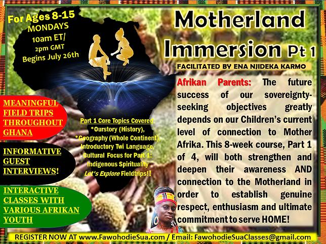 MOTHERLAND IMMERSION PT 1 JULY 2021 FLYE