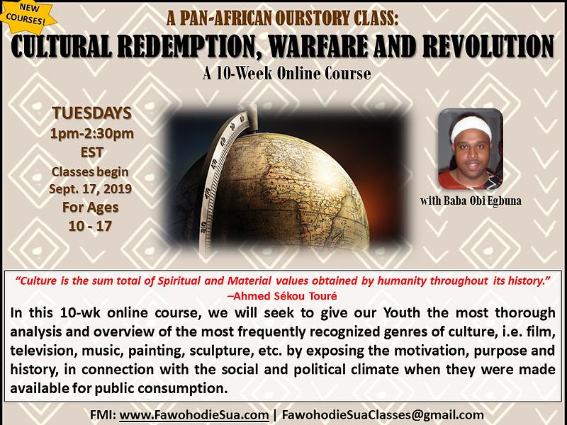CULTURAL REDEMPTION, REVOLUTION & WARFAR