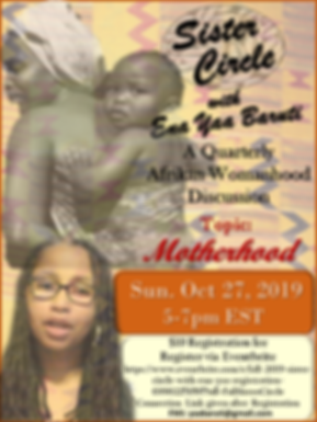 FALL 2019 SISTER CIRCLE FLYER WITH LINK.