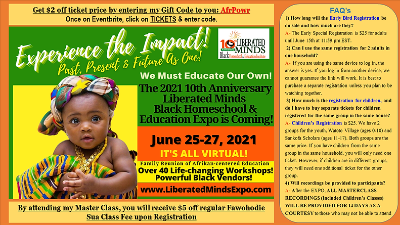 LIBERATED MINDS EXPO 2021 FLYER WITH DISCOUNTS & FAQ.png