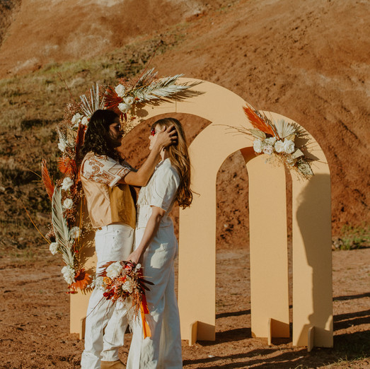 Retro Mars Elopement - Oregon Desert