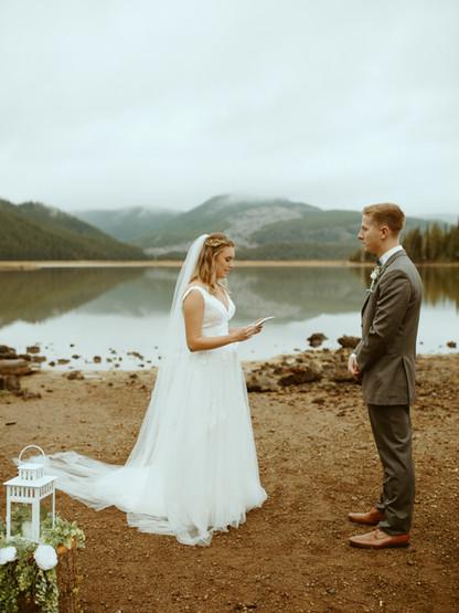 Tiny Wedding at Sparks Lake
