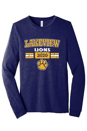 Long Sleeve Lakeview Lions Bella Canvas
