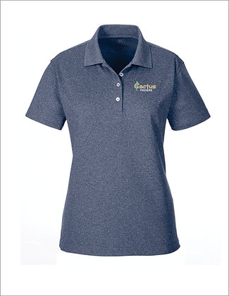 Women's UltraClub Heathered Pique Polo UC100W
