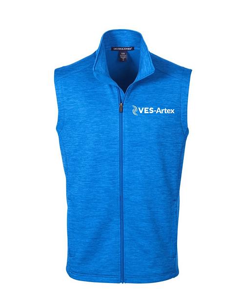 Men's Devon and Jones Newbury Melange Fleece Vest DG797