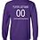 Thumbnail: Personalized Long Sleeve Lady Eagles Fan Shirt