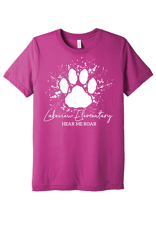 Lakeview Lions Bella Canvas Berry Short Sleeve