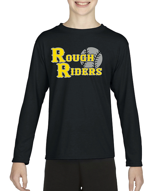 Personalized Rough Riders Gildan Long Sleeve with Player Name & Number