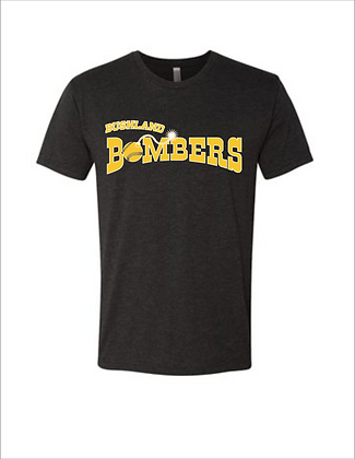 Personalized Bushland Bombers Next Level Triblend with Player Name and Number