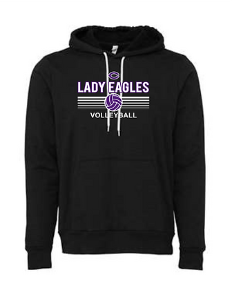 Bella Canvas Hooded Black HeatherSweatshirt