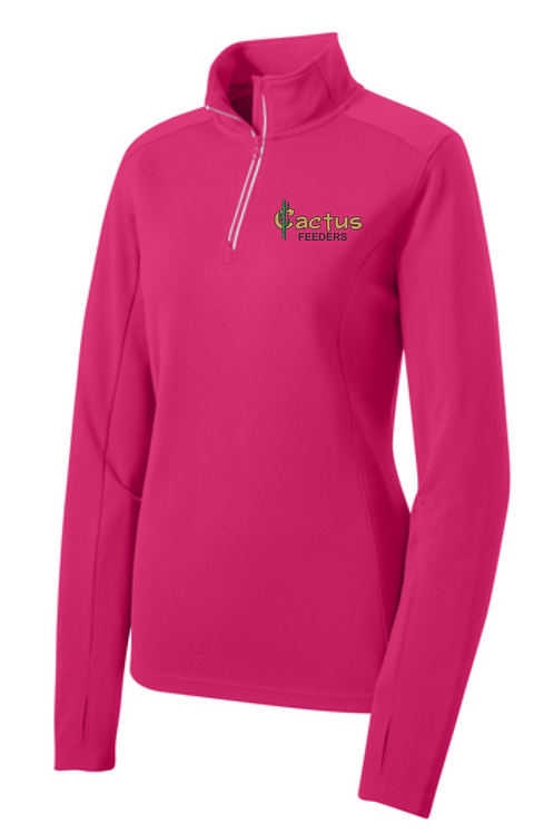 Ladies Sport Tek Textured 1/4 Zip Pullover LST860