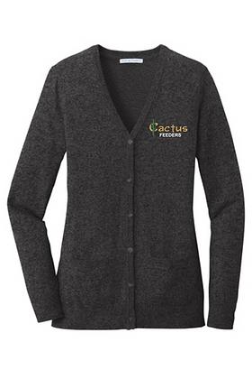 Ladies Port Authority Marled Cardigan Sweater LSW415