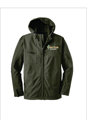 Men's Port Authority Textured Hooded Soft Shell Jacket J706