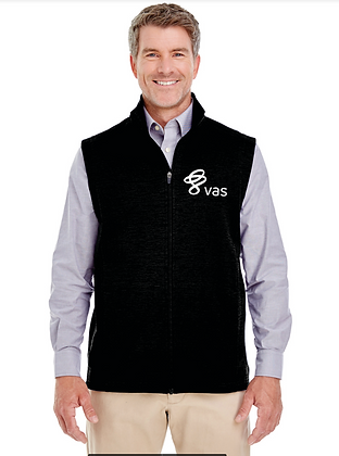 MEN'S AND WOMEN'S DEVON AND JONES NEWBURY MELANGE FLEECE VEST