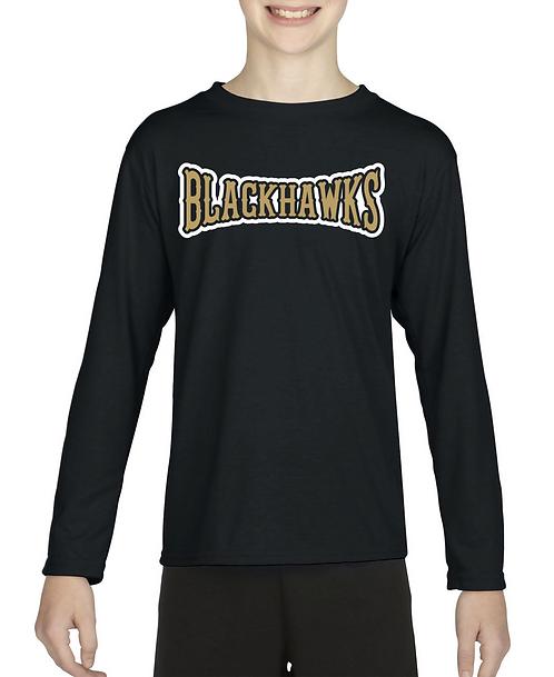 Personalized Bushland Blackhawks Gildan Long Sleeve with Player Name &a