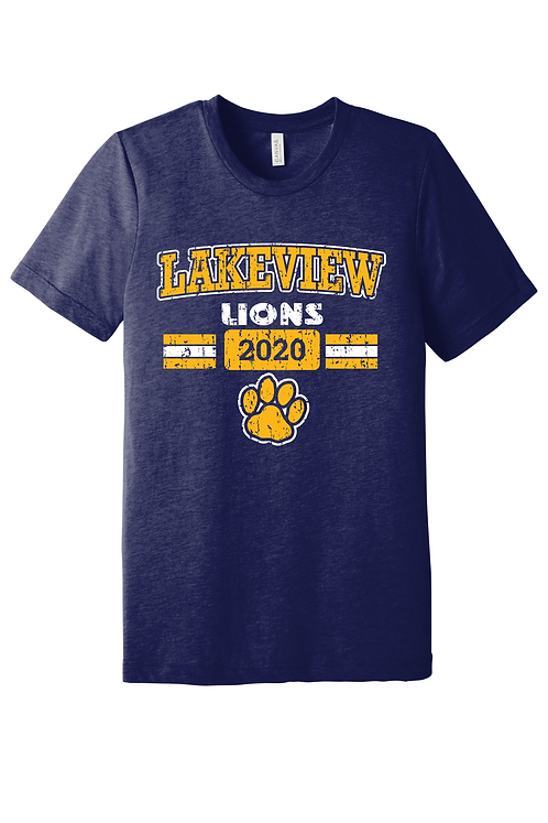 Short Sleeve Lakeview Lions Bella Canvas