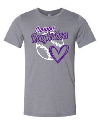 Personalized Roughriders Heart Design