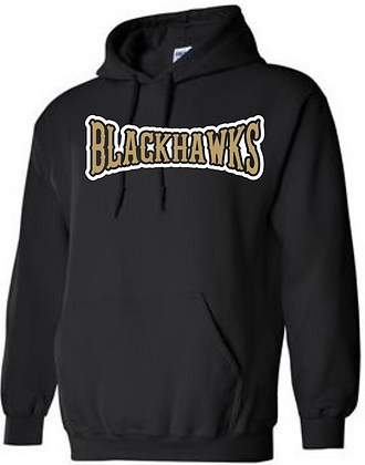 Personalized Bushland Blackhawks Black Hoodie with Player Name & #