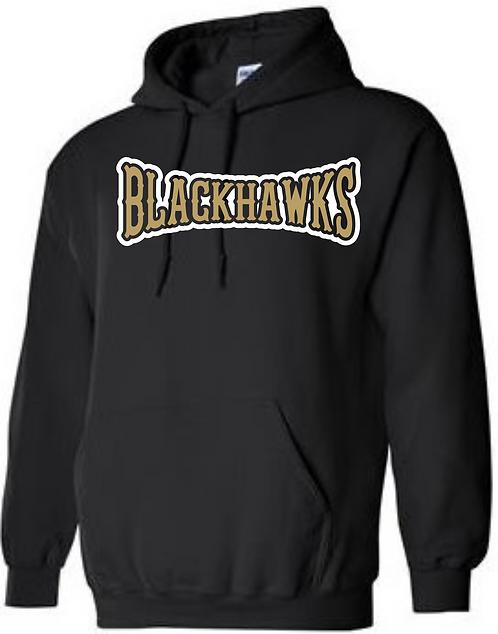 Personalized Bushland Blackhawks Black Hoodie with Player Name & #