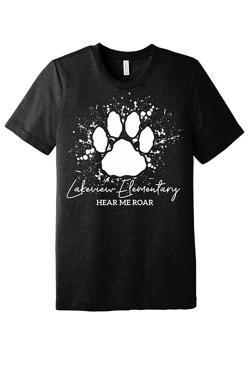 Lakeview Lions Bella Canvas Black Heather Short Sleeve
