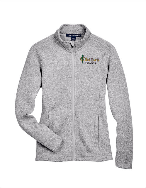 Women's Devon and Jones Bristol Sweater Fleece Full-Zip DG793W