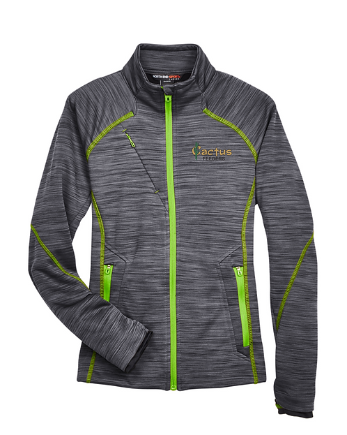 Ladies North End Flux Melange Bond Fleece Jacket 78697