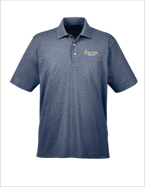 Men's UltraClub Heathered Pique Polo UC100