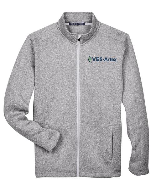 Men's Devon and Jones Bristol Full Zip Sweater Fleece Jacket DG793