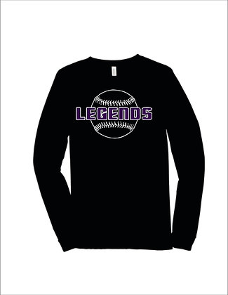 Bella Canvas Triblend Long Sleeve with Player Name/Number