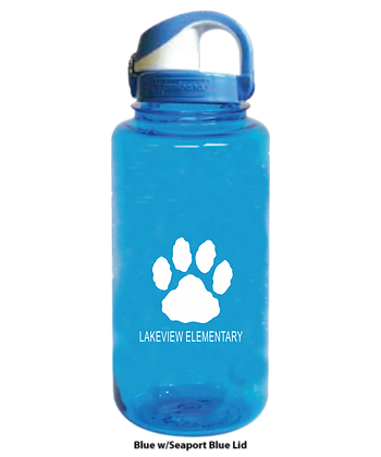 Blue or Clear Nalgene Water Bottles