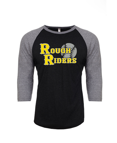 Personalized Rough Riders Raglan with Player Name & Number