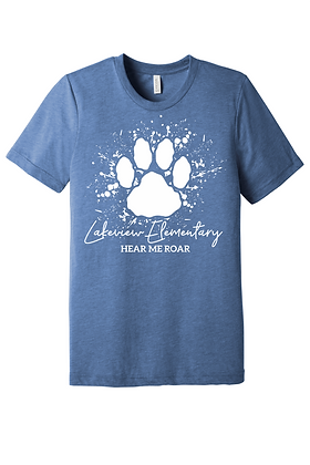 Lakeview Lions Bella Canvas Blue Heather Short Sleeve