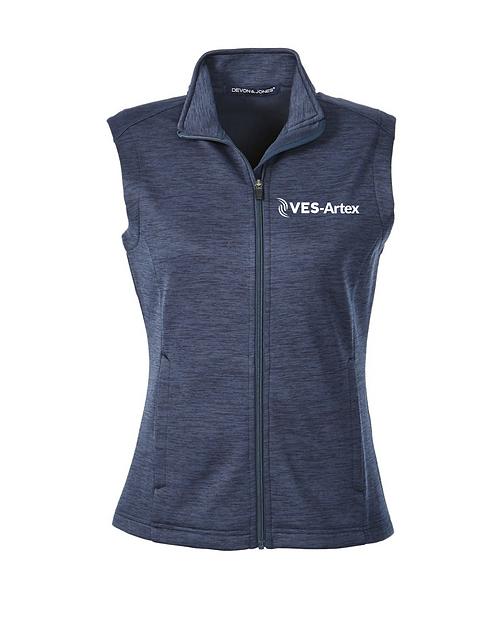 Ladies Devon and Jones Newbury Melange Fleece Vest DG797W