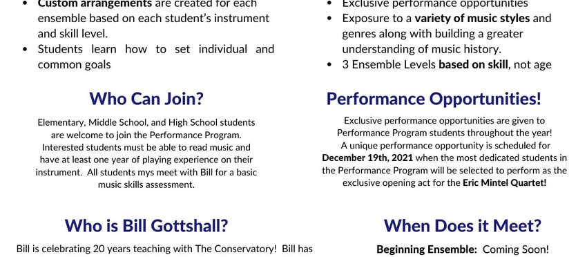 The Performance Program