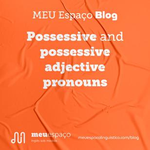 Possessive and Possessive Adjective Pronouns