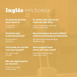 Usando Inglês em contextos de viagens. - Hotéis.