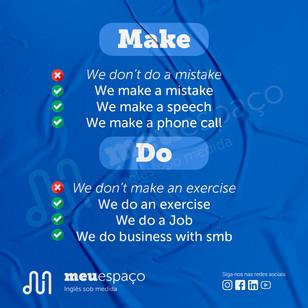 Quando usar MAKE ou DO no Inglês?